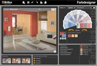 Gestalten Sie Fassaden und Innenräume an Ihrem Bildschirm mit dem Brillux Farbdesigner